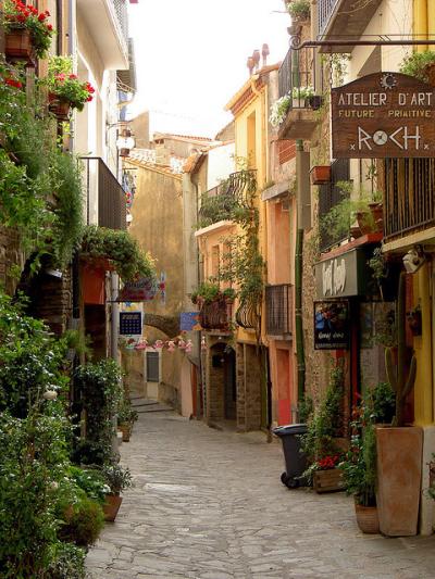 Les rues de Collioure, Pyrénées-Orientales, France
