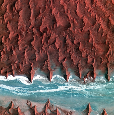 Satellite photo, Namib Desert