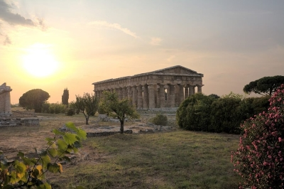 Ancient Greek temple in Paestum, Greece