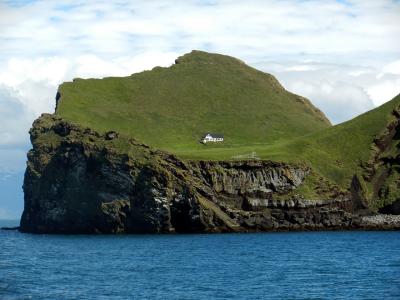 The Solitary House of Elliðaey Island, Iceland