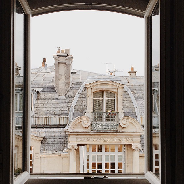 Window view, Paris, France