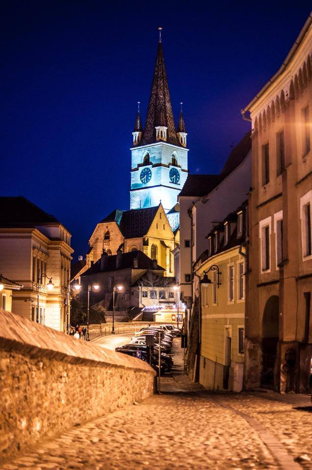 Sibiu by night, Romania