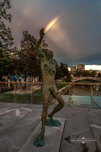 Rainbow man, Ljubljana, Slovenia