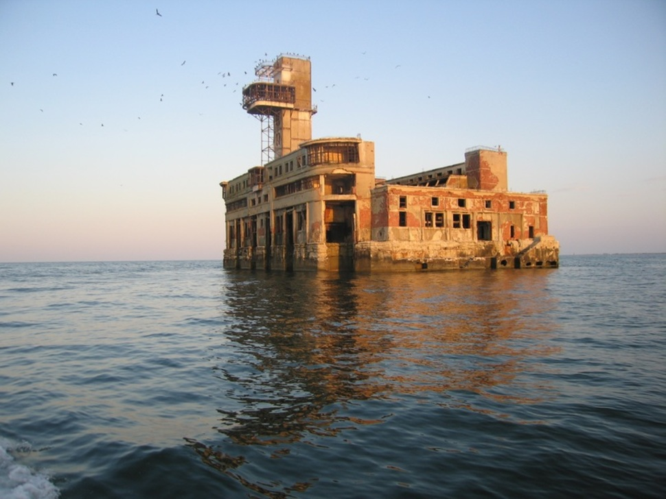 Soviet naval testing station in Makhachkala, Russia
