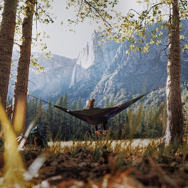 Hammock and mountains