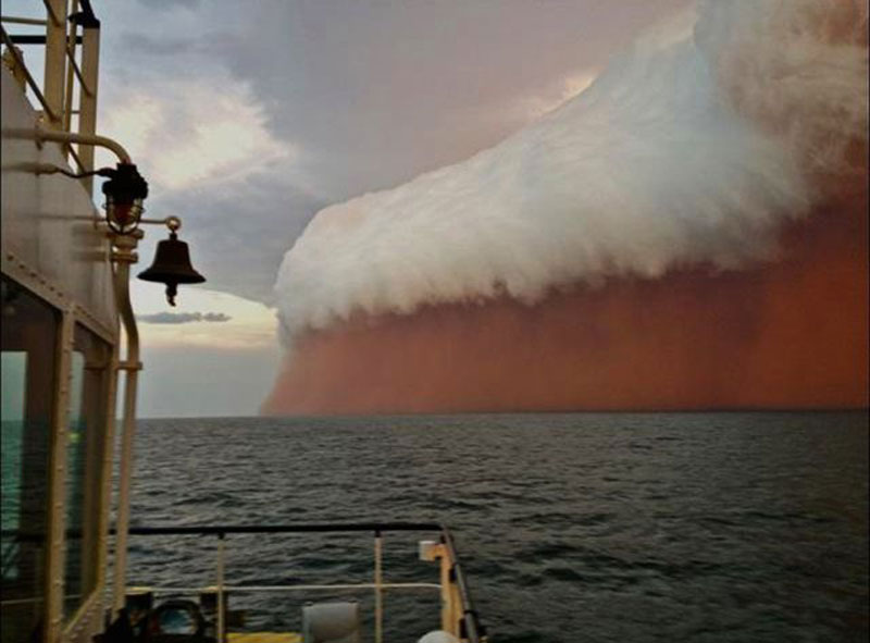 A huge dust storm that hit Western Australia in early 2013