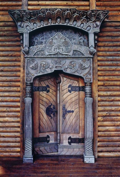 Dacha carved doors, Russia