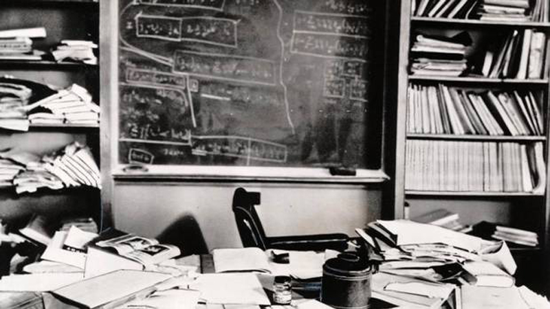 Einstein's desk hours after his death
