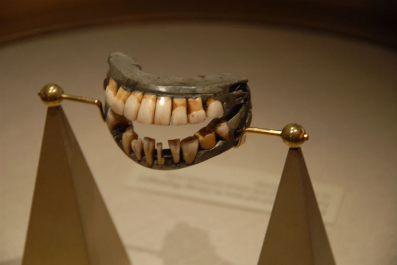 George Washington's teeth as you can see here