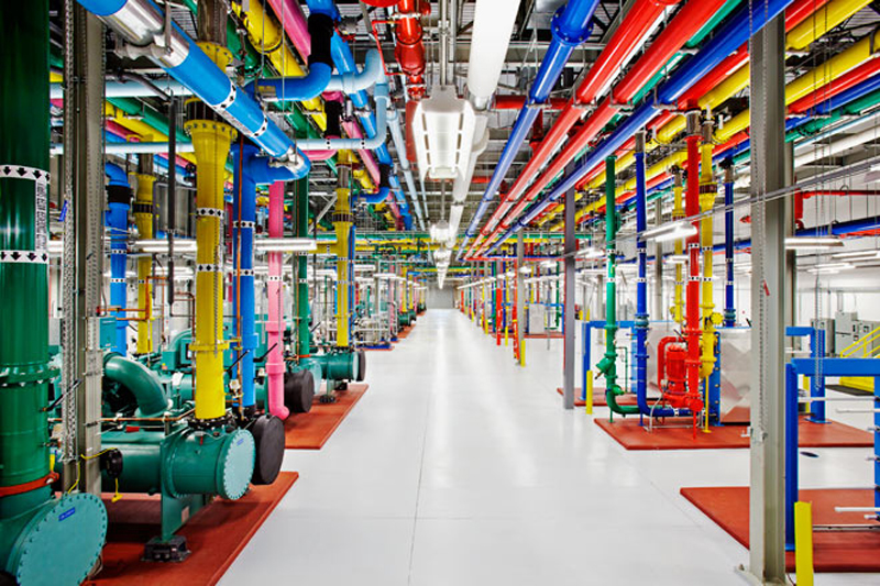 Inside one of Google's data centers