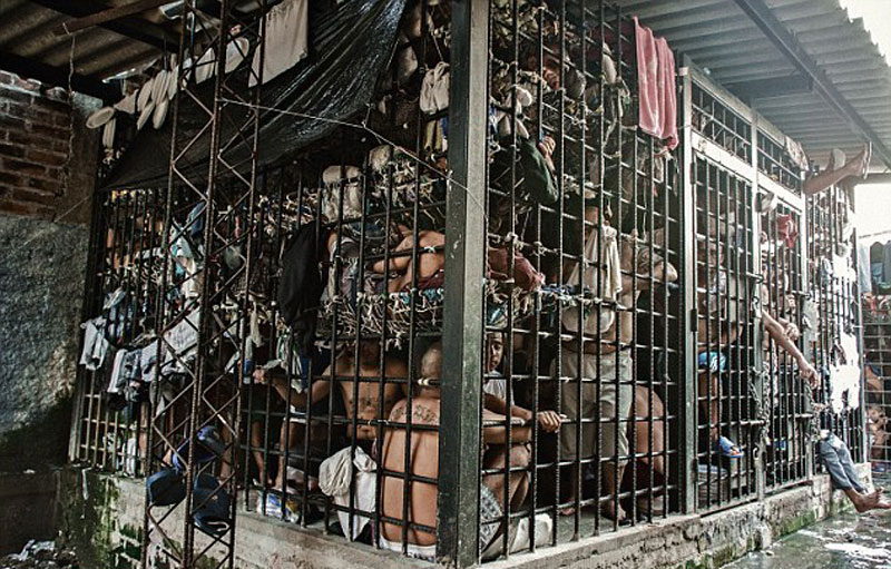 Overcrowded prison in El Salvador