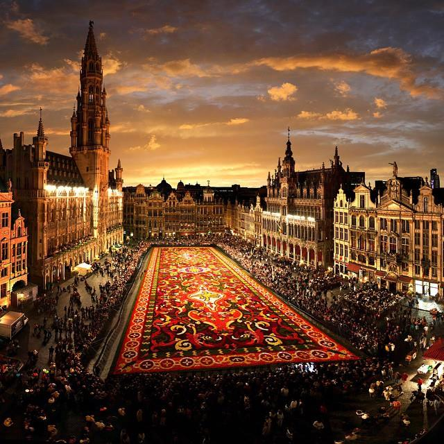 The Flower Carpet, Brussels, Belgium