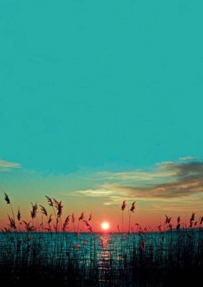 Late summer sunset