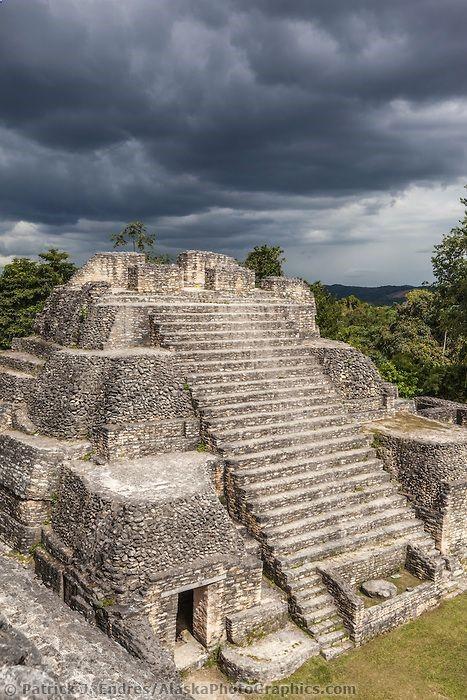 Mayan Pyramid, Caracol, Belize