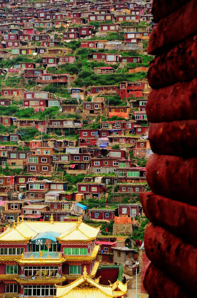 Colorful homes in Sichuan, China