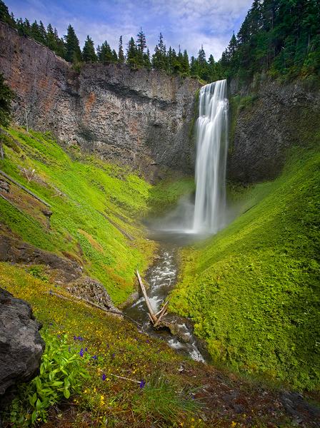 Salt Creek Falls Willamette National Forest Oregon Photo On Sunsurfer