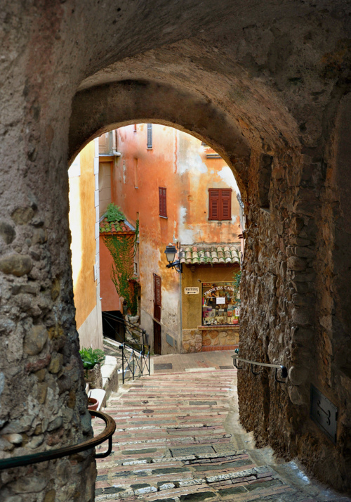 Stone Stairs The Old French Village Roquebrune Cap
